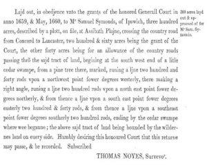 Symmonds Grant 1660
